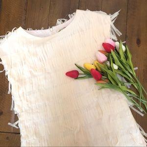 {Joyfolie} Ivory Fringe Dress